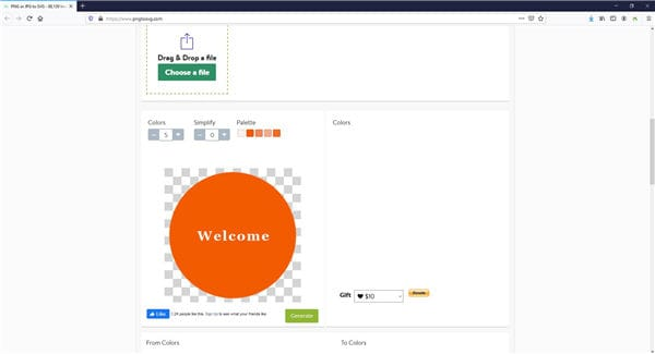 click generate