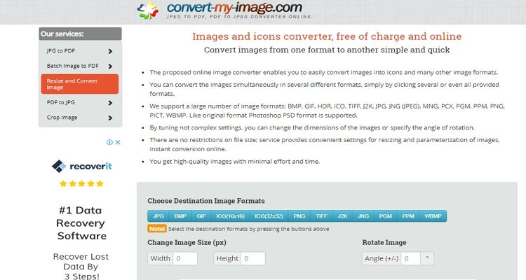 best picture size converter-Convert-my-image.com