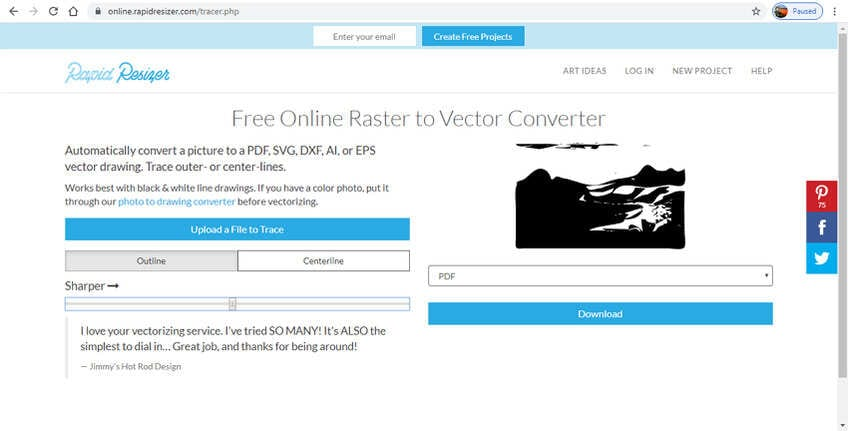 free online vector converter-Rapid Resizer