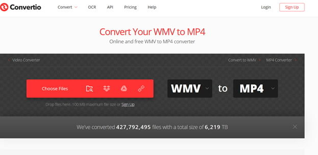 Convert Windows Media Video Online Free -Convertio
