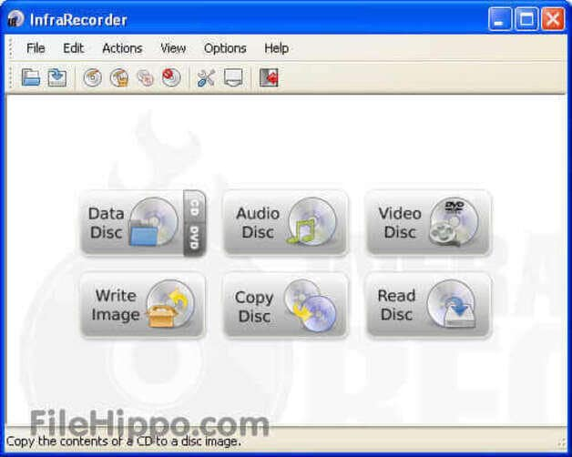 Best CD Burning Software - Infra Recorder