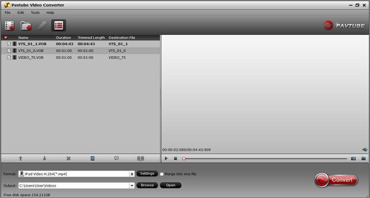 DVD in vimeo konvertieren mit Pavtube