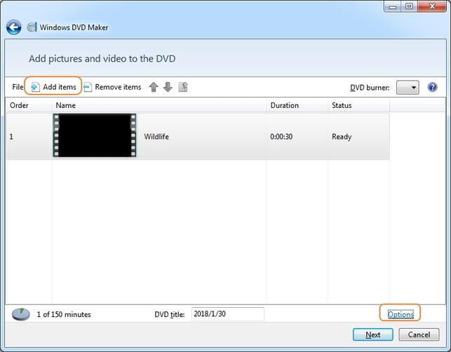Convert WMV to DVD using Windows Movie Maker