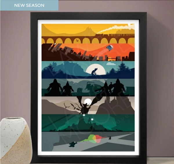Cool Gifts for A Movie Buff-Harry Potter Saga Art Print