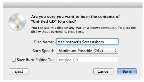 burn DVD on Mac - step 3