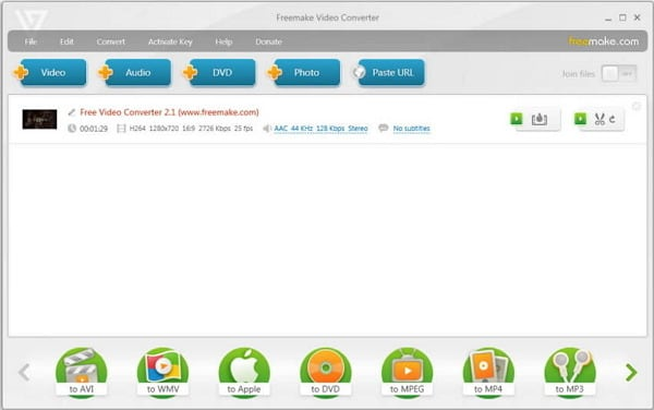 convert mkv to dvd free - Freemake Video Converter