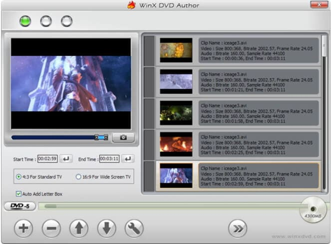 convert mkv to dvd free - WinX DVD Author