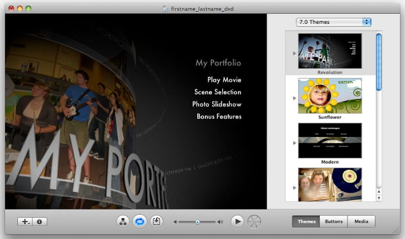 записать MKV на DVD Mac с помощью iDVD