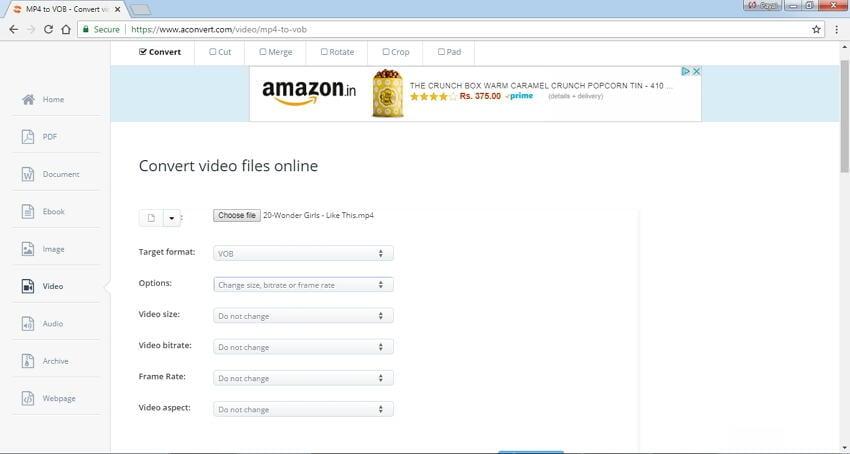 online mp4 to dvd converter Aconvert