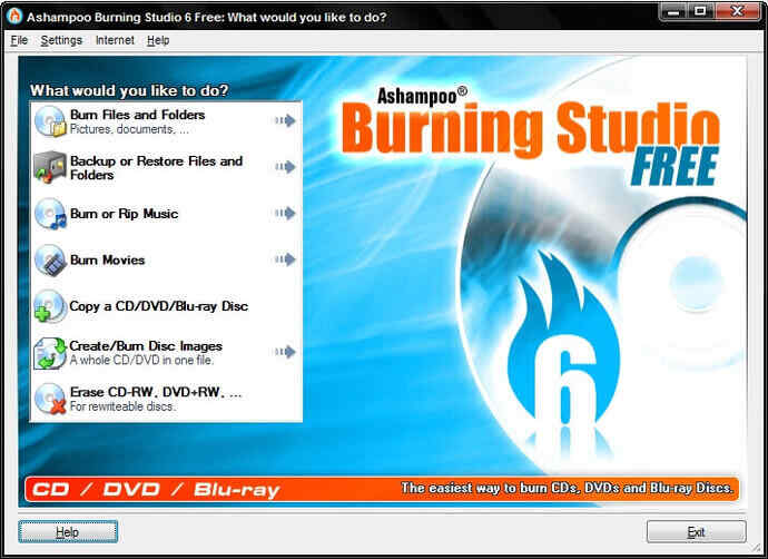 Best 3 Video to DVD Converters - Ashampoo Burning Studio Free