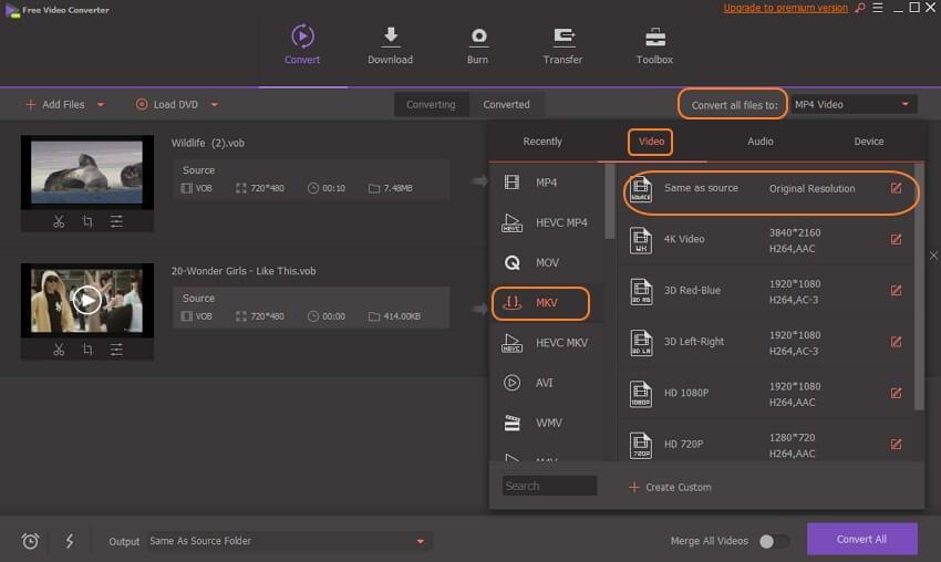 free vob to mov converter windows 10
