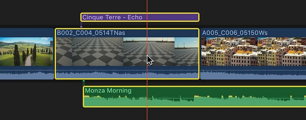 final cut pro split clip