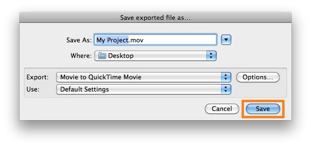 click save to export