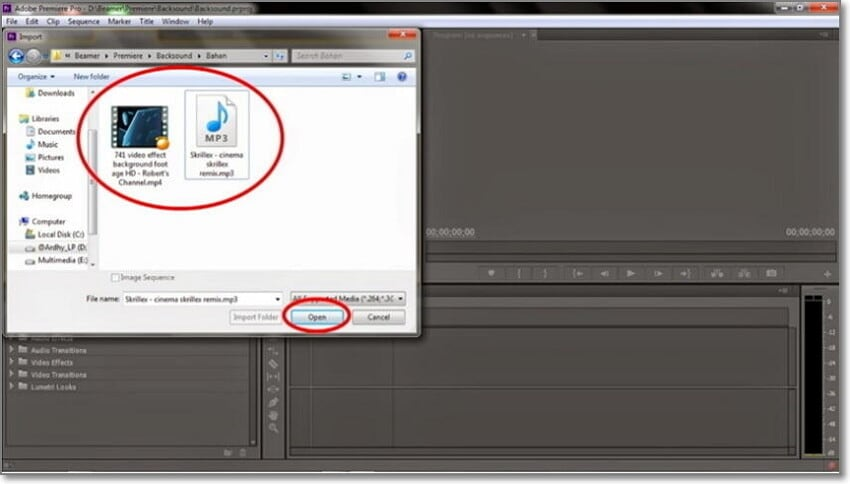 start edit flv in adobe premiere