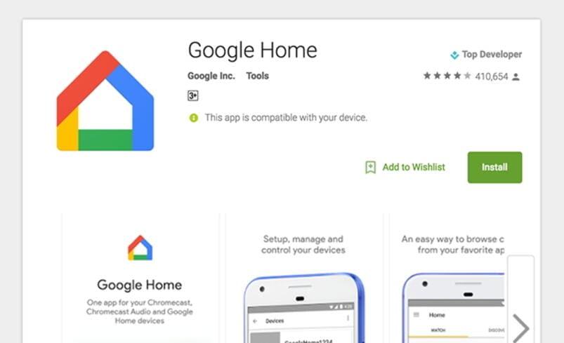 stream video via google home