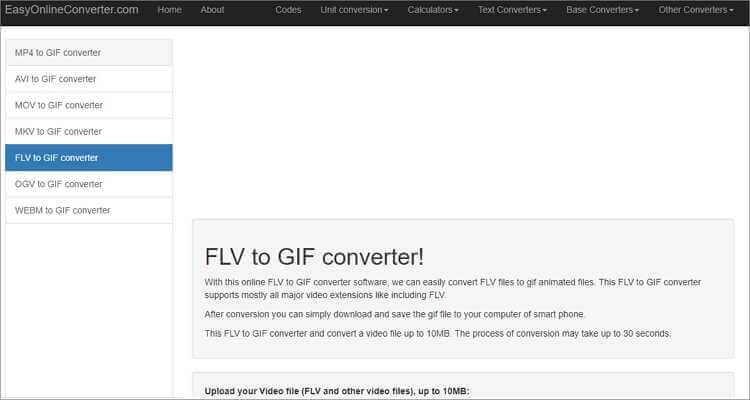 FLV to GIF Online Converter-EasyOnlineConverter