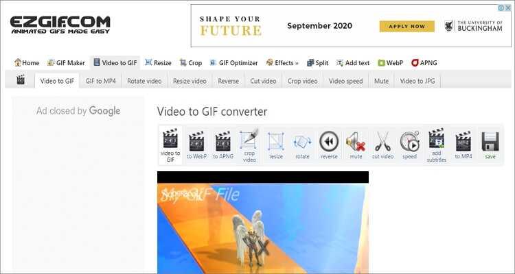 FLV to GIF Online Converter-Ezgif
