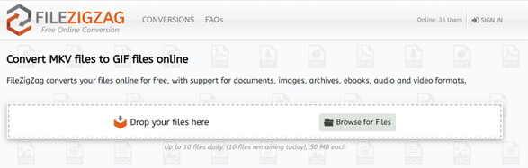 MKV to GIF Online Converter-FileZigZag
