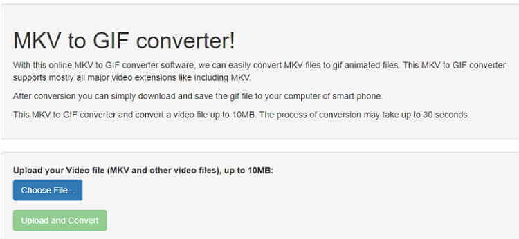 MKV to GIF Online Converter-EasyOnlineConverter