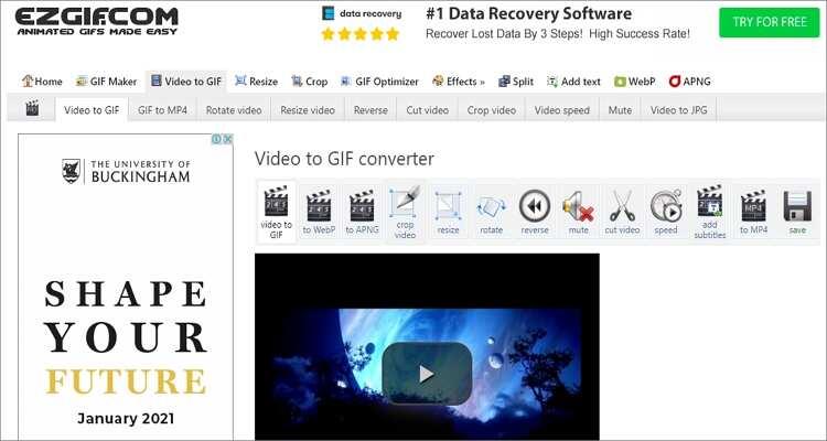 QuickTime to GIF Online Converter-EZGIF