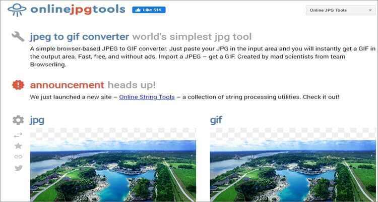 Convert JPG to GIF Online Free -Online JPG Tools