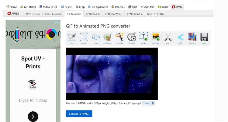 Convert PNG to GIF Online Free -Ezgif