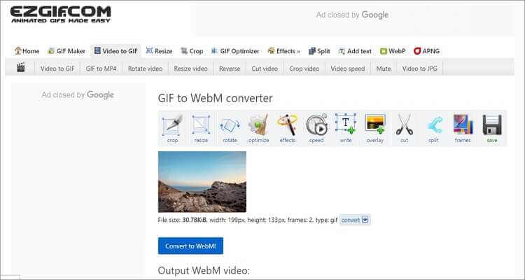 Convert Video to GIF Online Free -Ezgif
