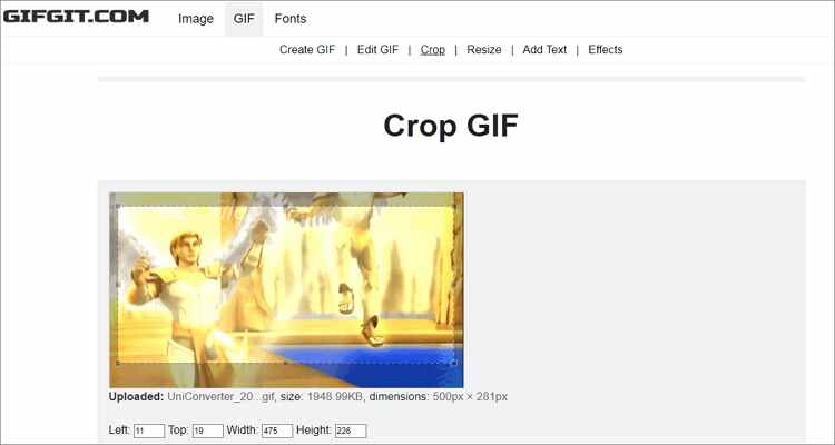 Online Solutions to Crop GIF - GIFGIT