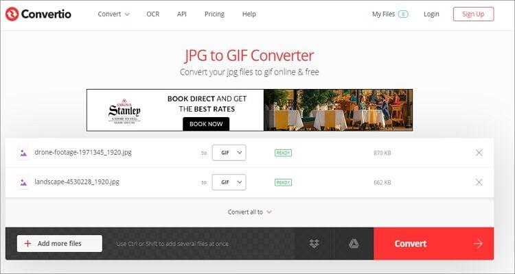 GIF maker online tool-Convertio