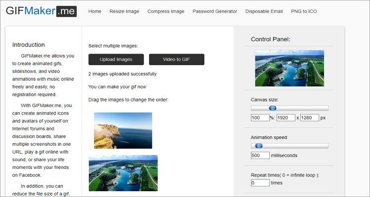 GIF maker online tool-GIFMaker