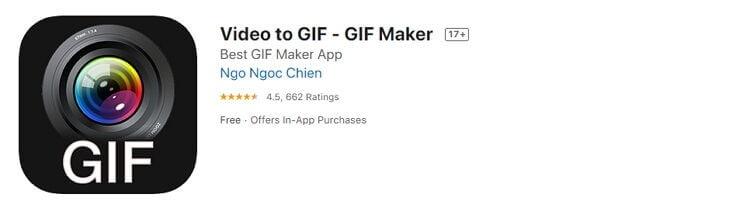 Kostenlose Video zu GIF iPhone Converter - GIF Makers
