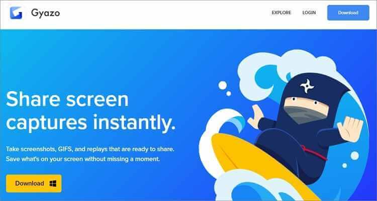 Kostenloser online Bildschirm zu GIF Converter - Gyazo