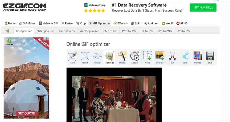 GIF-Größe kostenlos online verkleinern - Ezgif