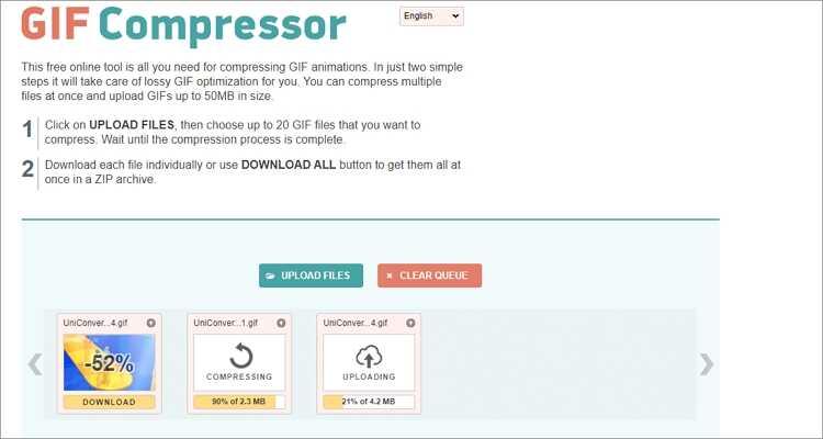 GIF-Größe kostenlos online verkleinern - GIF Compressor