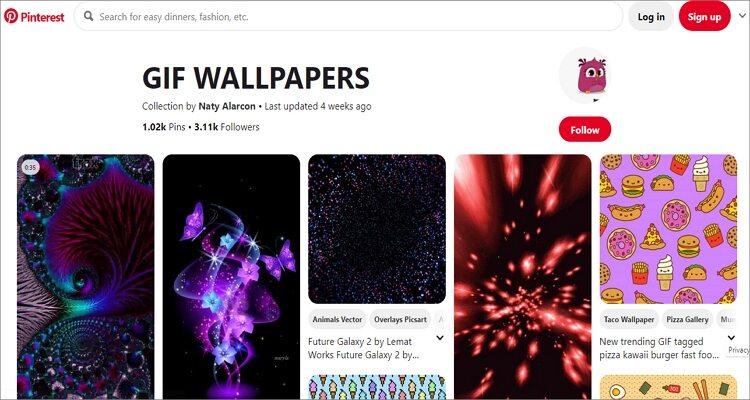 GIF Wallpaper Online Free - Pinterest