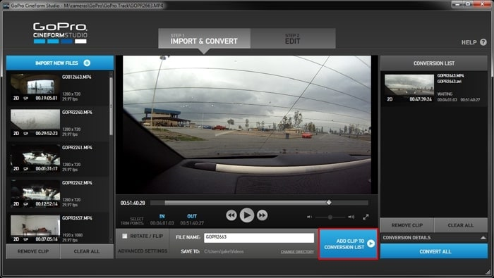 gopro cineform download