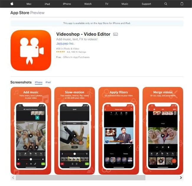 gopro bearbeitungs app für iPhone - videoshop