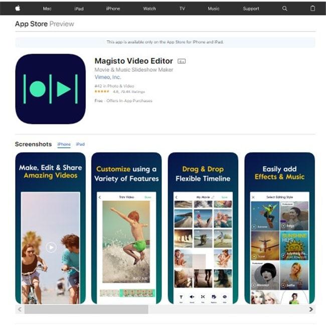 gopro bearbeitungs app für iPhone - magisto