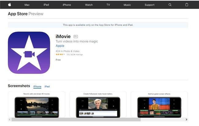 gopro bearbeitungs app für iPhone - imovie