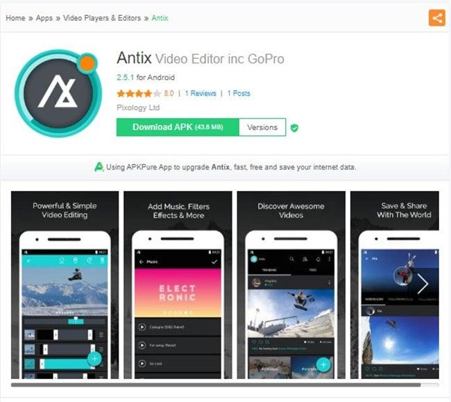 gopro bearbeitungs app für android - antix
