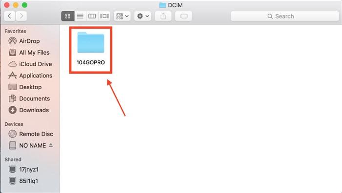 open 100GoPro folder