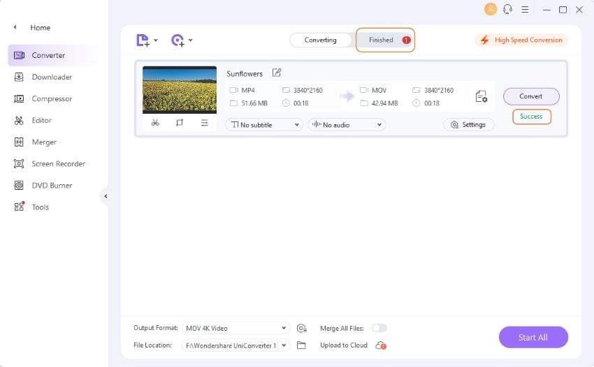 find the converted videos