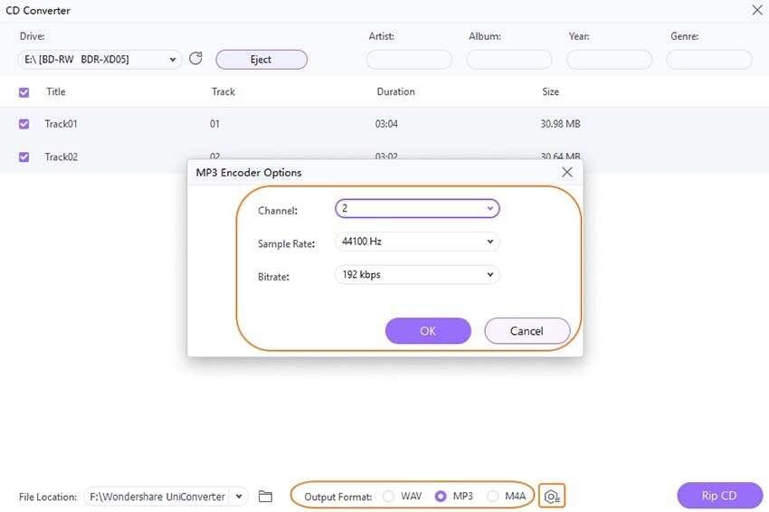 Customize the output preferences
