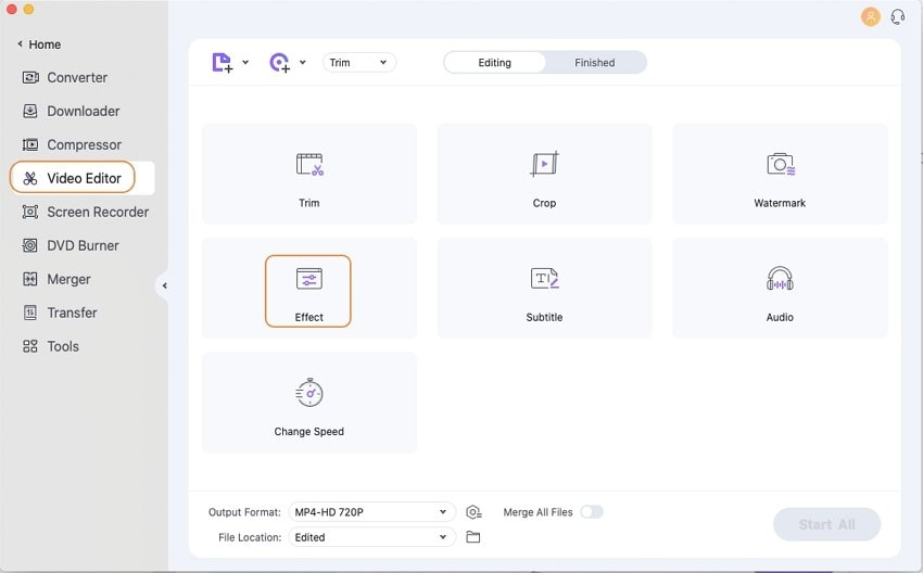 add videos need to add effect on Mac