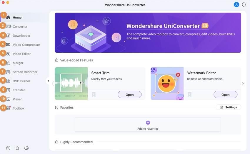 basics of Wondershare UniConverter for Mac