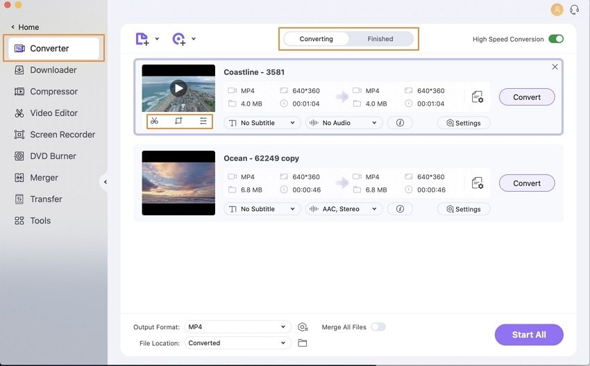 Convert videos with Wondershare UniConverter for Mac