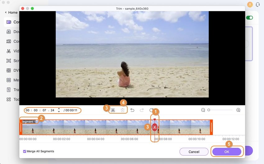 trim video on mac