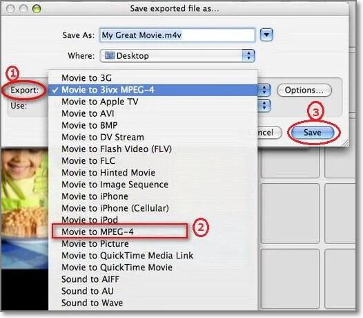 save iMovie as MP4 Files