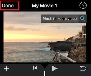 crop video imovie iphone