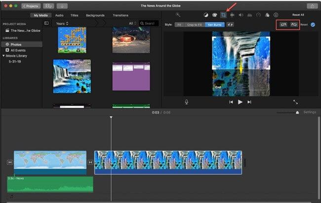 rotate video imovie